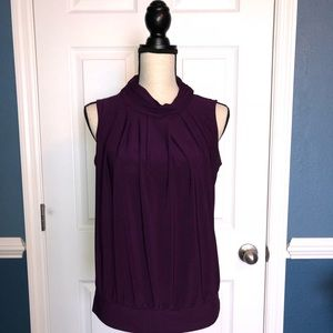 Turtleneck Blouse (Plum)